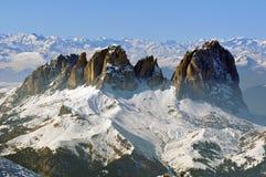 De winter in het Dolomiet royalty-vrije stock foto's