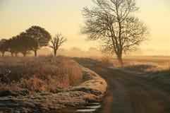 De winter in het Engelse Platteland Royalty-vrije Stock Afbeelding