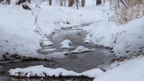 De winter het Kleine Rivier Stromen stock videobeelden