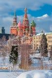 De Winter het Kremlin stock foto's