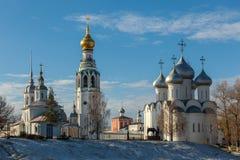 De winter het Kremlin Vologda Royalty-vrije Stock Afbeeldingen