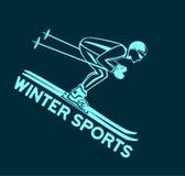De winter het Ski?en Sport stock illustratie