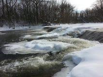 De winter het stromen stock afbeeldingen