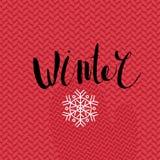 De winter het van letters voorzien Stock Afbeelding