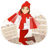De winter het winkelen Royalty-vrije Stock Fotografie