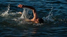 De winter het zwemmen Stock Afbeelding