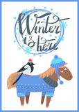 De winter is hier Promo-Affiche Vectorillustratie stock illustratie