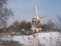 De winter in Holland Stock Foto