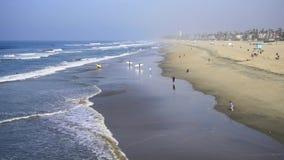 De winter in Huntington Beach stock videobeelden