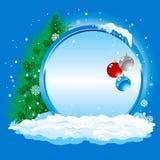 De winter. Inzameling van vier seizoenen. Vector. royalty-vrije illustratie