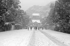 De winter in Japan Stock Foto