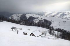 De winter in de Karpatische bergen Royalty-vrije Stock Foto