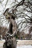 De winter in Kerepesi-Begraafplaats Royalty-vrije Stock Foto's