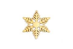 De winter, Kerstmis, Nieuwjaar houten decoratie - sneeuwvlok, ster Royalty-vrije Stock Afbeelding