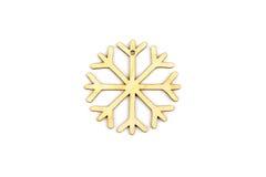 De winter, Kerstmis, Nieuwjaar houten decoratie - sneeuwvlok, ster Stock Afbeeldingen