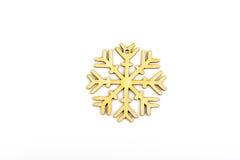 De winter, Kerstmis, Nieuwjaar houten decoratie - sneeuwvlok, ster Stock Fotografie
