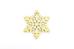 De winter, Kerstmis, Nieuwjaar houten decoratie - sneeuwvlok, ster Royalty-vrije Stock Afbeeldingen