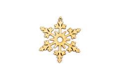De winter, Kerstmis, Nieuwjaar houten decoratie - sneeuwvlok, ster Stock Foto