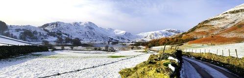 De winter in de Kleine Langdale-Vallei Stock Afbeeldingen