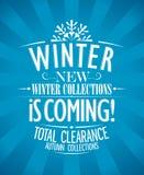 De winter is komend ontwerp. Stock Afbeelding