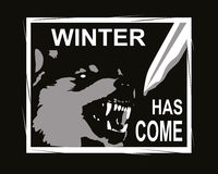 De winter is komend ontwerp voor t-shirt Stock Foto