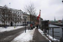 De winter in Kopenhagen Stock Afbeeldingen
