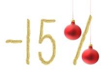 De winter 15% korting Stock Afbeelding