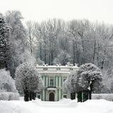 De winter in Kuskovo stock afbeeldingen