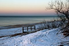 De winter kwam aan het Overzees Stock Fotografie