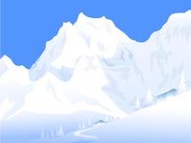 De winter landsacpe - Vectorillustratie Royalty-vrije Stock Foto's