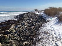 De winter langs de kust stock afbeeldingen