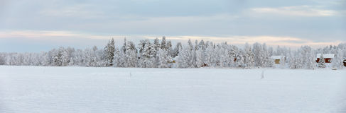 De winter in Lapland Stock Afbeeldingen