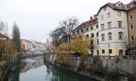 De winter Ljubljana Royalty-vrije Stock Foto
