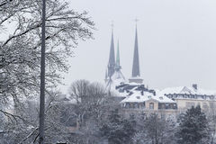 De winter in Luxemburg Stock Foto