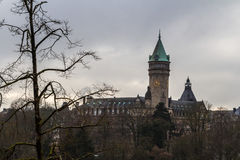 De winter in Luxemburg Royalty-vrije Stock Foto