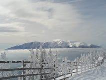 De winter meer dan allen Stock Foto's