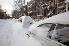 De winter in Montreal royalty-vrije stock afbeelding