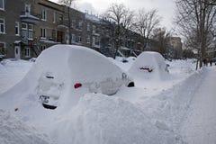 De winter in Montreal royalty-vrije stock afbeeldingen