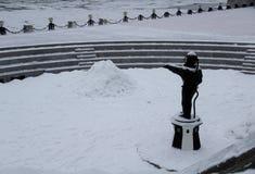 De winter in Moskou royalty-vrije stock fotografie