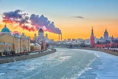 De winter in Moskou Stock Fotografie