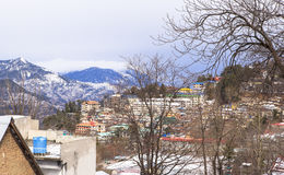 De winter in Murree, Pakistan royalty-vrije stock fotografie