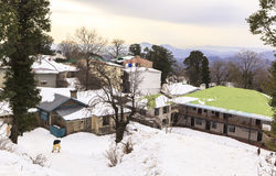 De winter in Murree, Pakistan royalty-vrije stock afbeelding