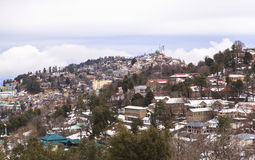De winter in Murree, Pakistan stock afbeelding