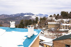 De winter in Murree, Pakistan royalty-vrije stock afbeeldingen