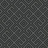 De winter Naadloos gebreid Oud Russisch nationaal wollen patroon Gray Worm Labyrinth Royalty-vrije Stock Foto