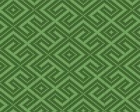 De winter Naadloos gebreid Oud Russisch nationaal wollen patroon Ontwerp Groen Labyrint Royalty-vrije Stock Afbeelding