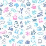 De winter Naadloos Patroon Royalty-vrije Stock Afbeelding