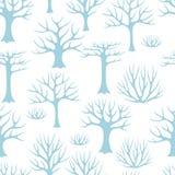 De winter naadloos patroon met gestileerde samenvatting Stock Afbeeldingen