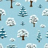 De winter naadloos patroon met gestileerde samenvatting Stock Fotografie