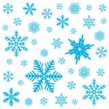 De winter naadloos patroon met sneeuwvlokken op witte achtergrond Vector illustratie Stock Fotografie